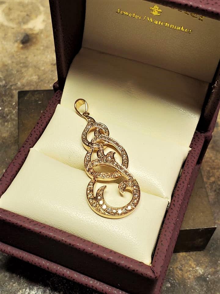 Diamond 14kt Rose Gold Pendant