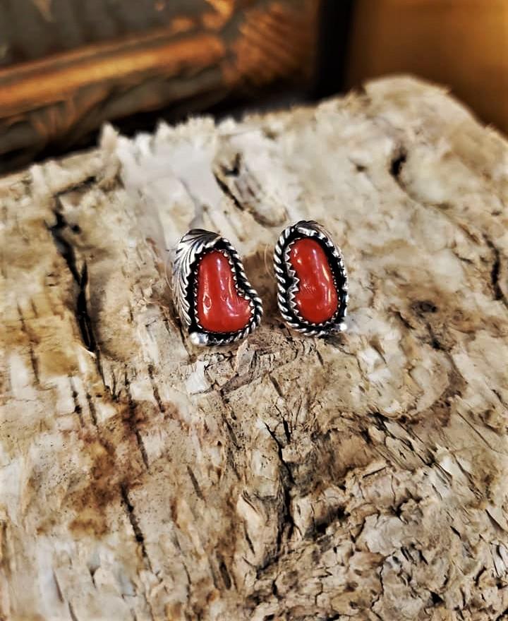 Justin Morris Coral Earrings