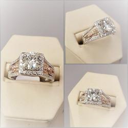 .75ctw Diamonds Semi-mount