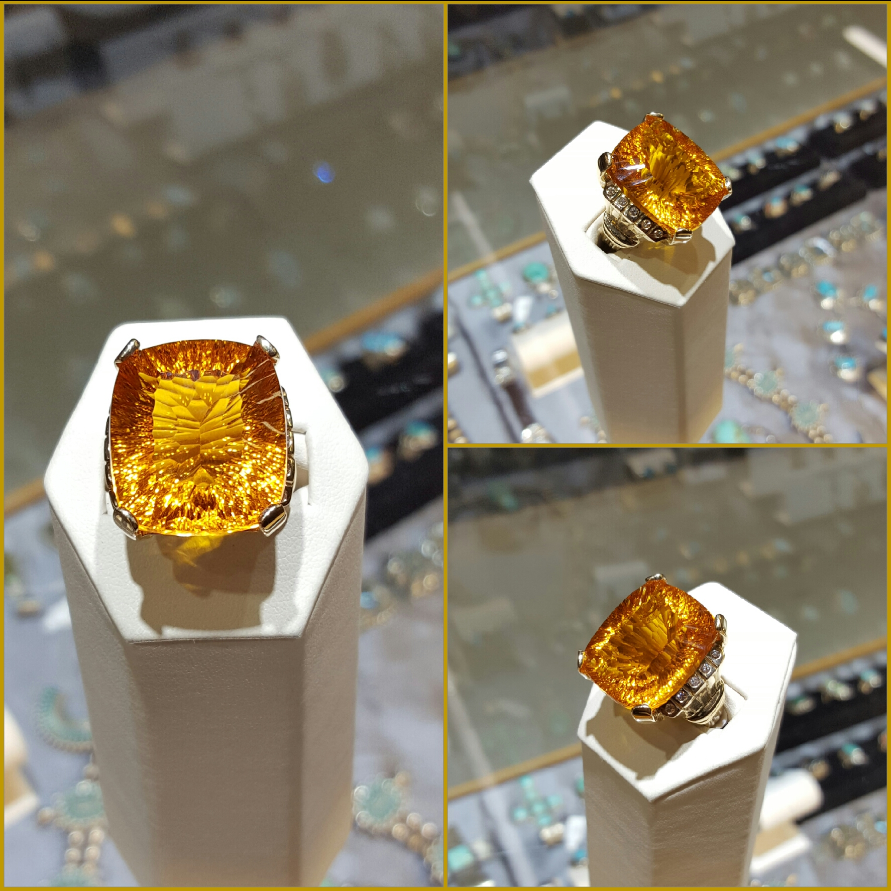 33.65 Citrine with Diamonds