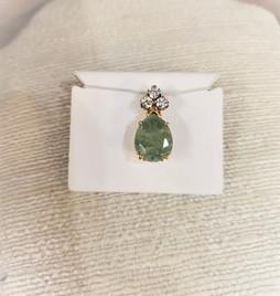 Aventurine & Diamond Pendant