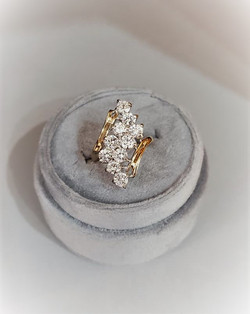 2ctw Diamond Waterfall Ring