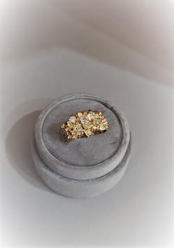 .75ctw Diamond Nugget Ring