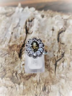 Tourmaline Diamond Halo