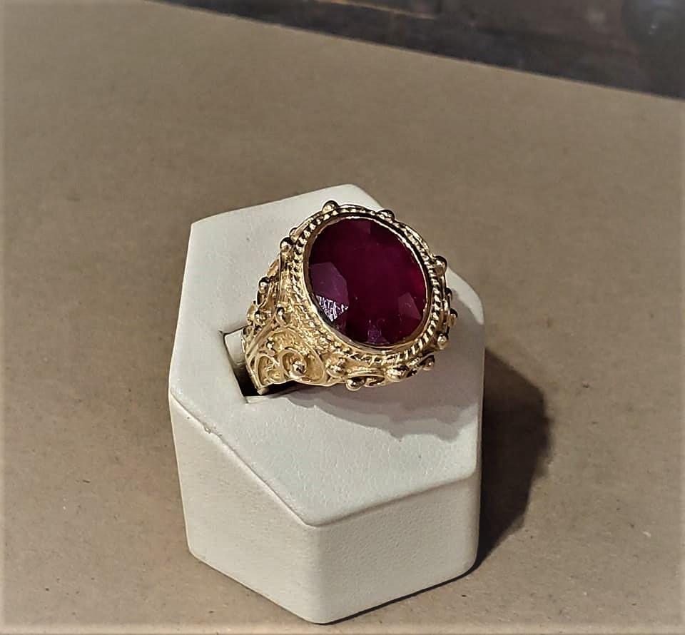 11.58ct Ruby Ornate Setting