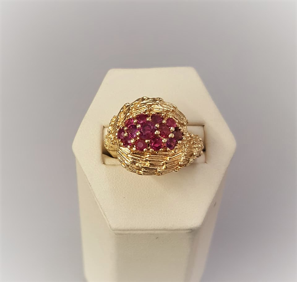 2.50ctw Natural Ruby Cluster