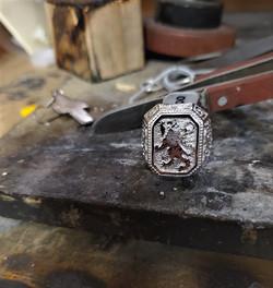 Carved Lion Crest