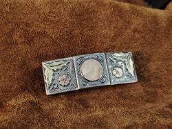 Vintage Plamex Buckle SS 10kt 18kt Gold