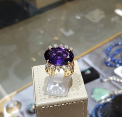 Custom Amethyst & Diamond