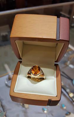 Citrine with Diamond Accents