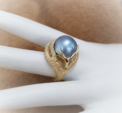 Pacific Ocean Blue Mabe Pearl
