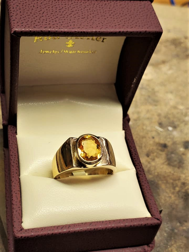 Oval Faceted Citrine