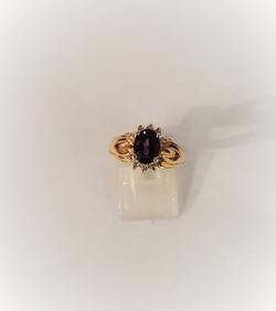 Oval Amethyst .30ctw Diamonds