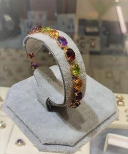 Multi-Stone Semi-Precious Bracelet