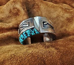 Navajo Charlie Bowie Kachina Bracelet