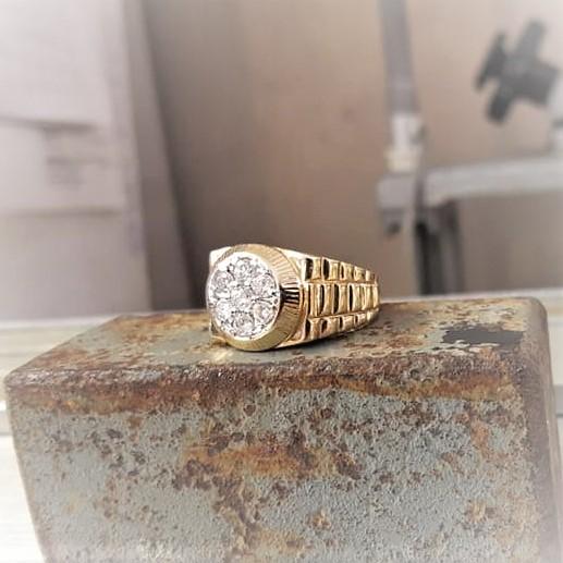 Rolex-Style with .75ctw Diamonds