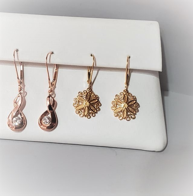 Gold Floral Earrings