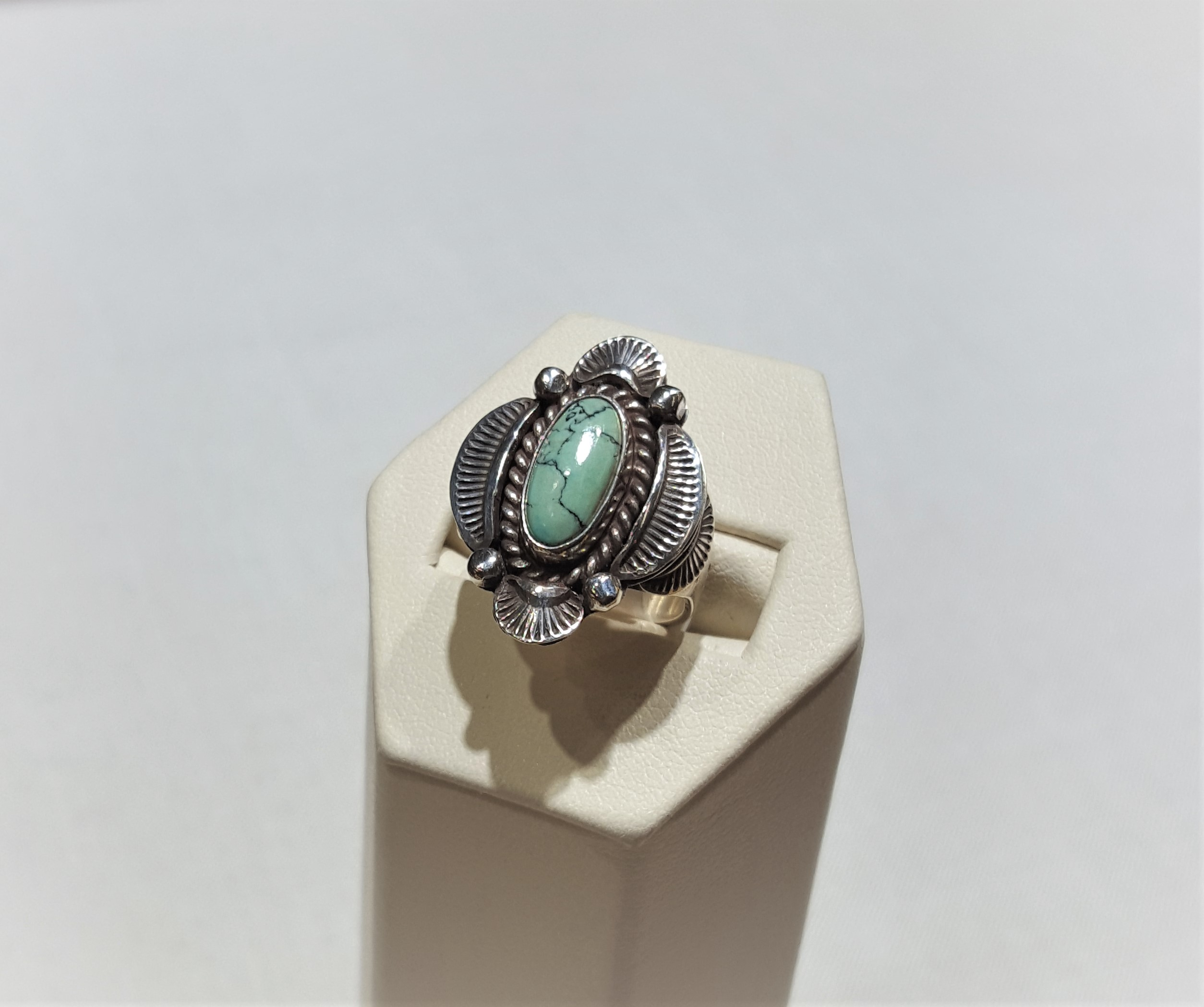 1970s D & D Clark Turquoise Ring