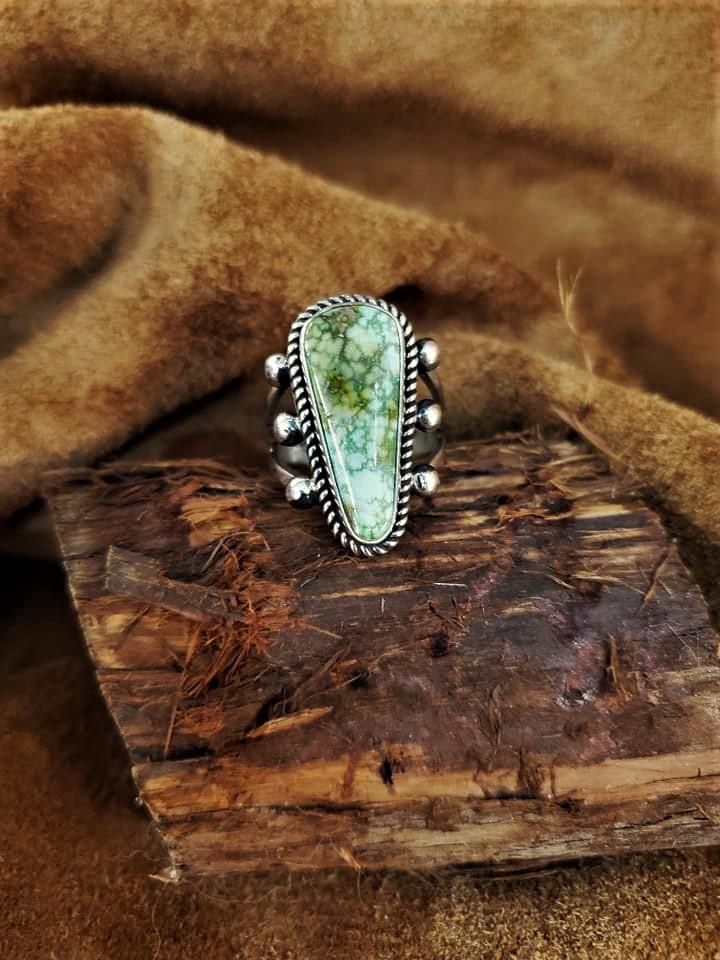 Navajo Albert Jake Turquoise Ring