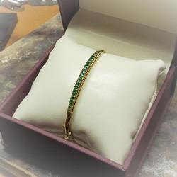 3ct Emerald Bangle Bracelet