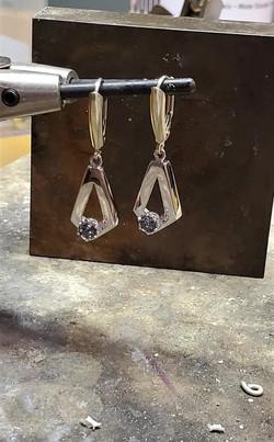.60ctw Sapphire Earrings