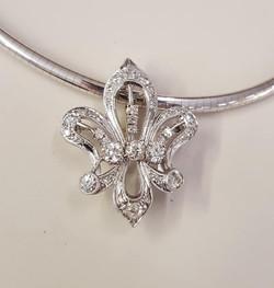 3ctw Diamond Fleur-de-lis Pendant
