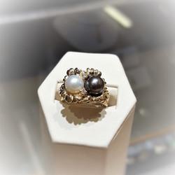 Akoya Pearls with Diamonds