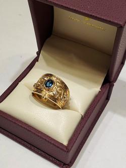 London Blue Topaz with Diamonds