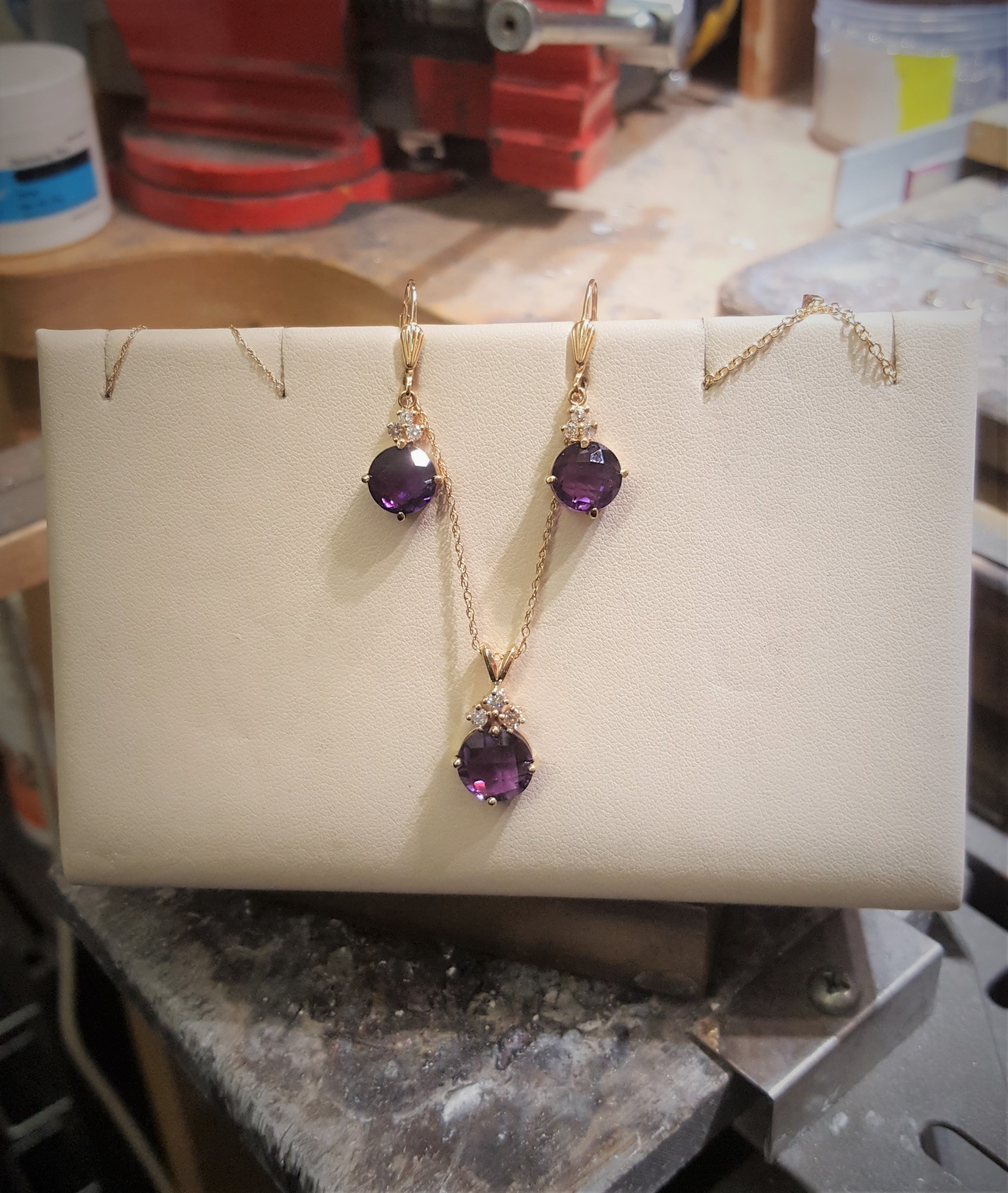 Amethyst & Diamonds Set