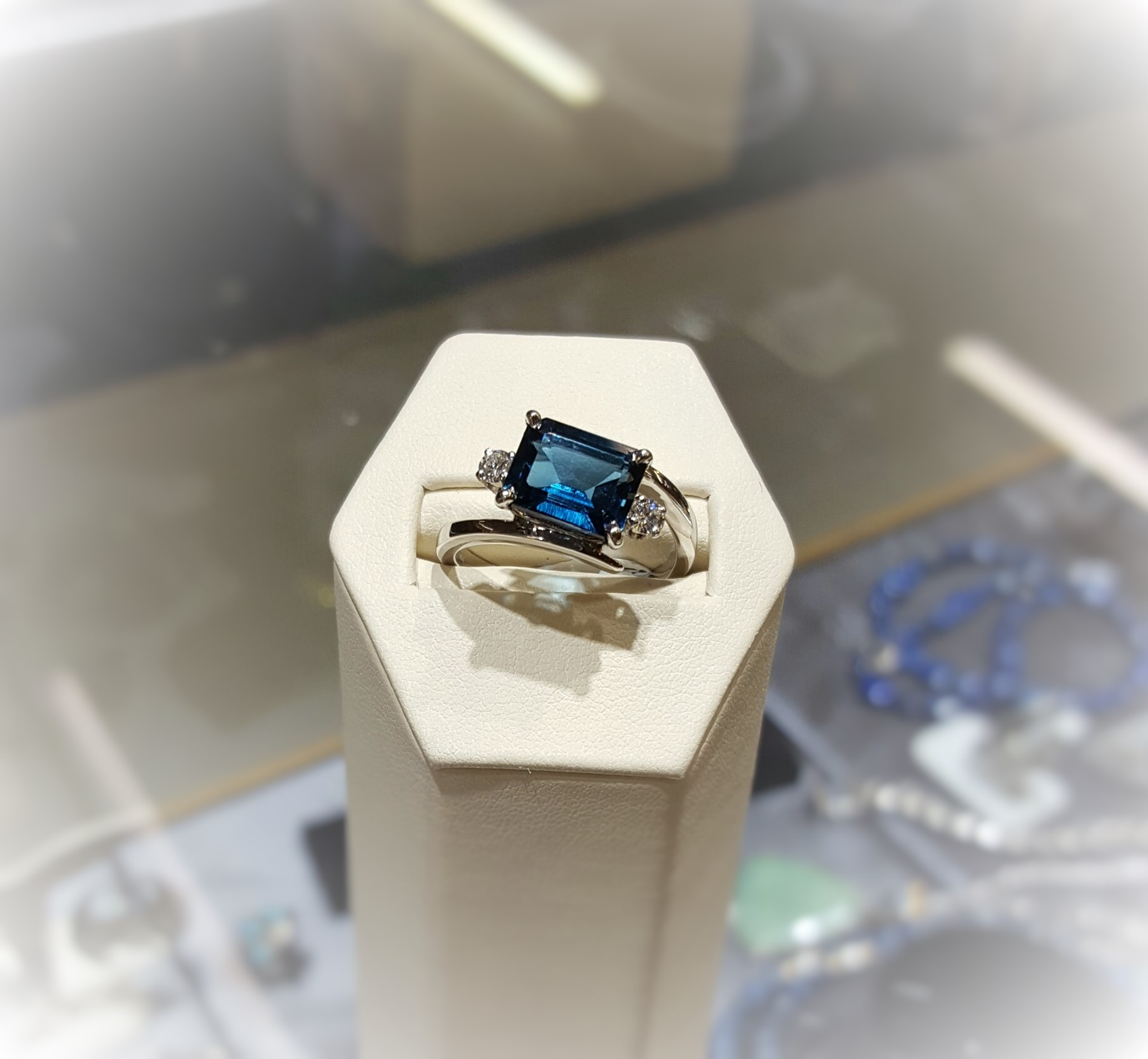 London Blue Topaz with Diamonds