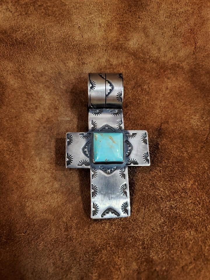 Kee Cook Navajo Turquoise Pendant