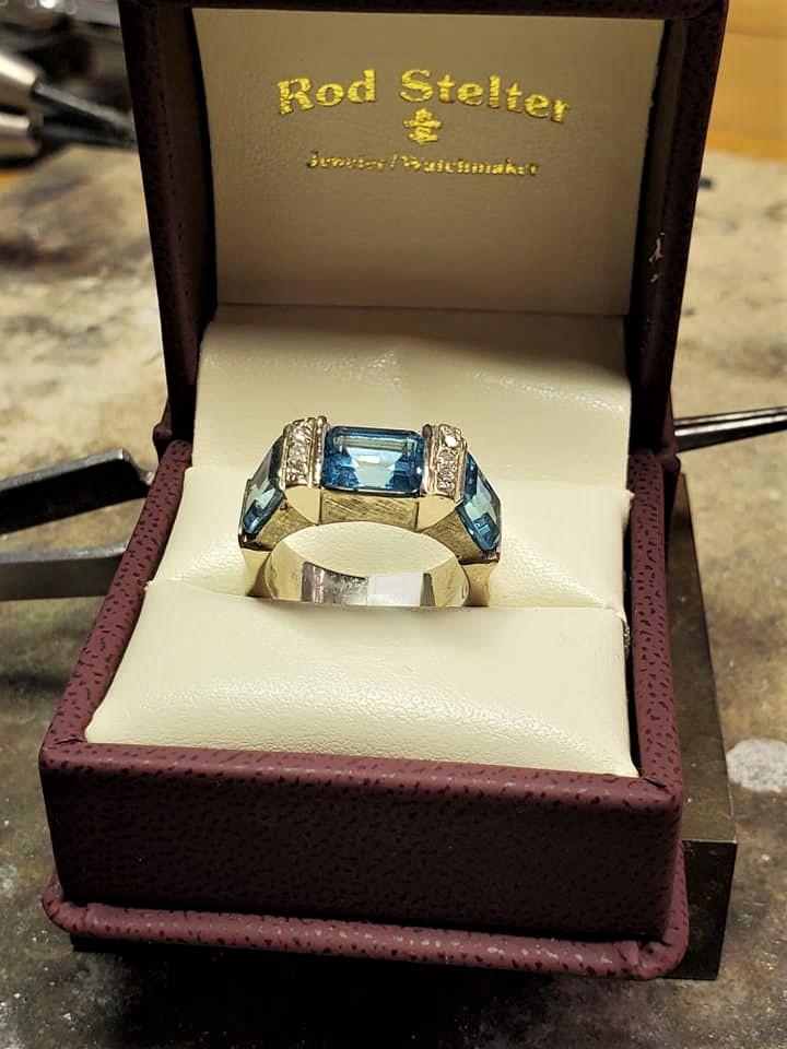 Sky Blue Topaz Diamonds