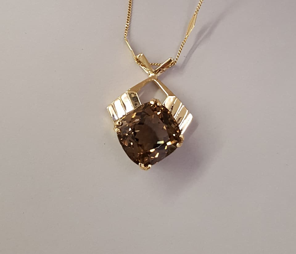 32.51ct Smokey Quartz Pendant