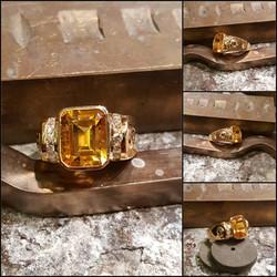 3.06ct Citrine .40ctw Diamonds