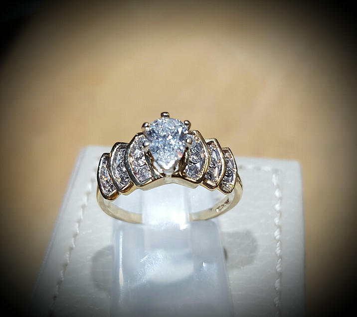 1ct Pear Diamond