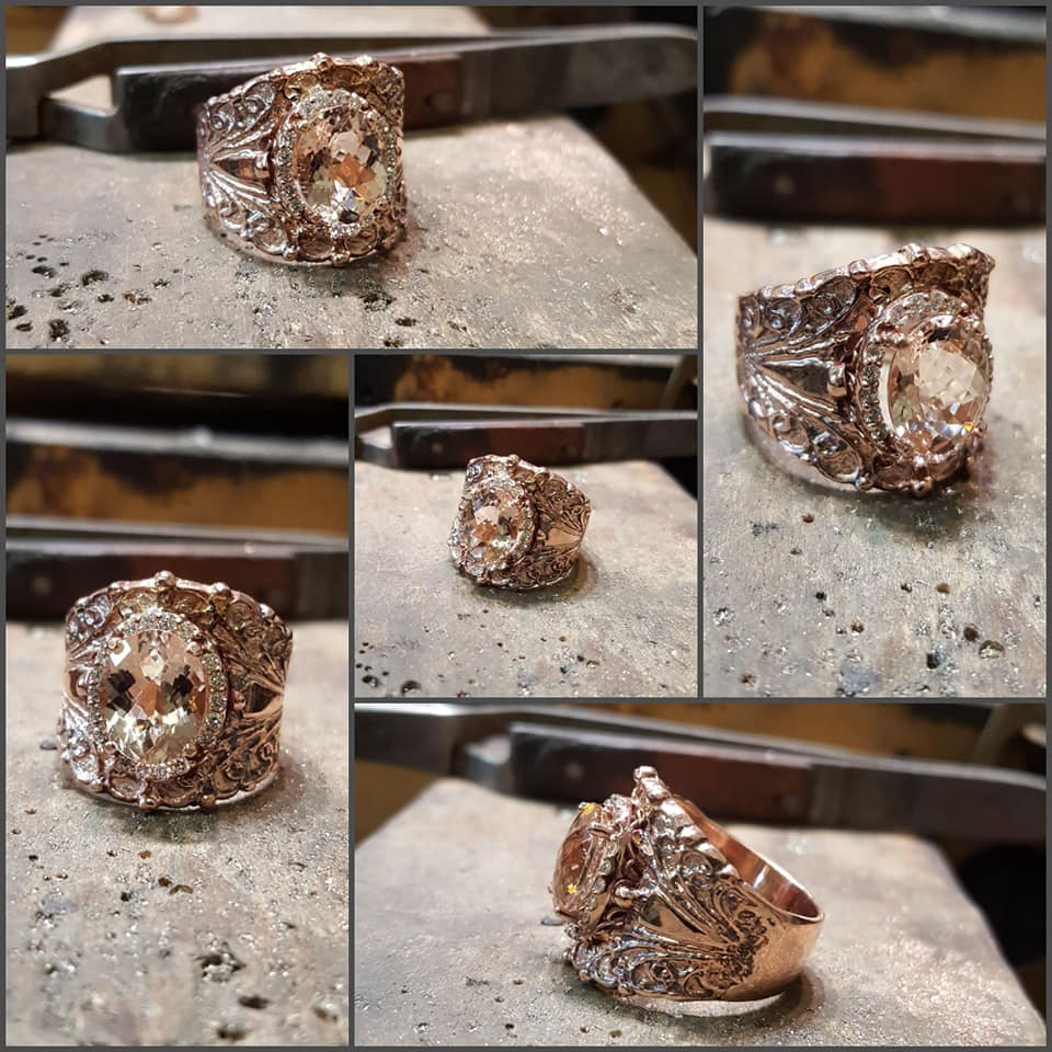 2.58ct Morganite .25ctw Diamond