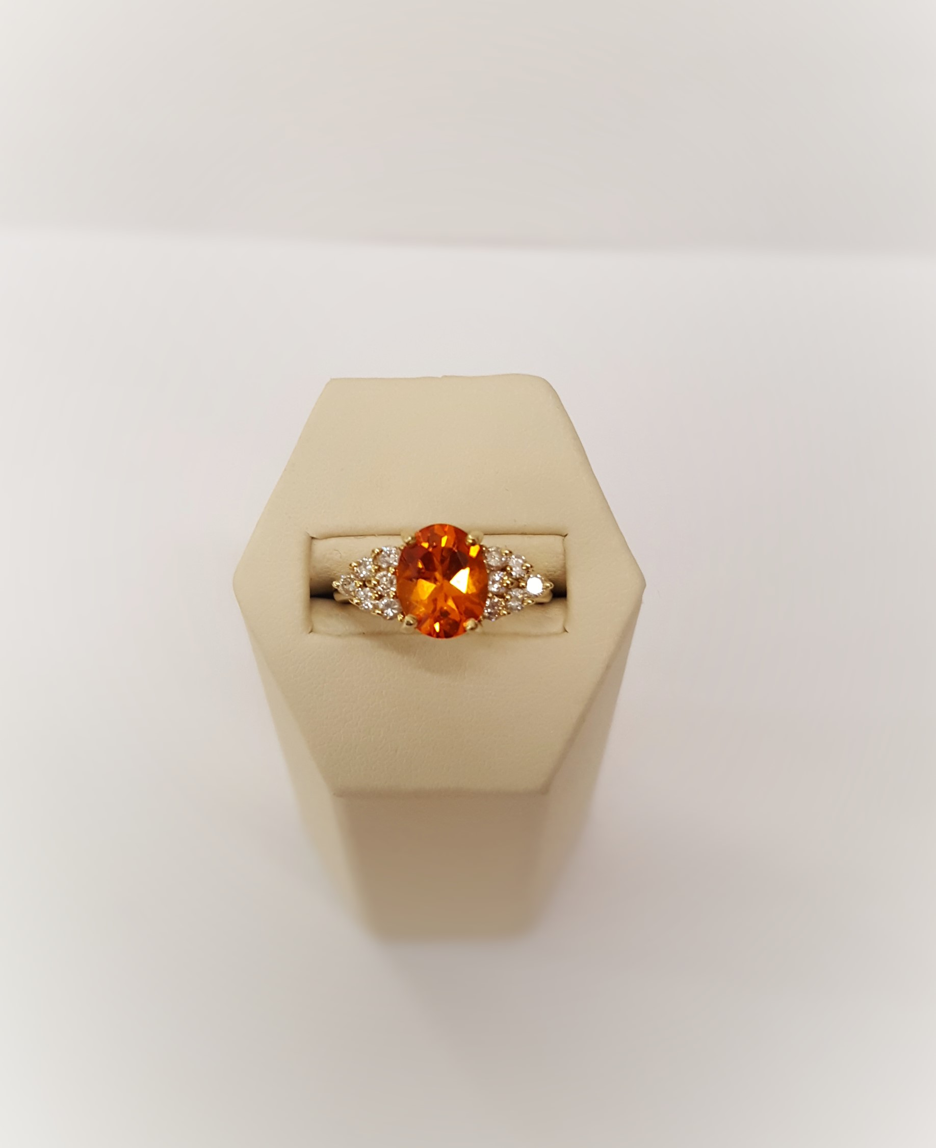 3.85ct Orange Sapphire & Diamonds