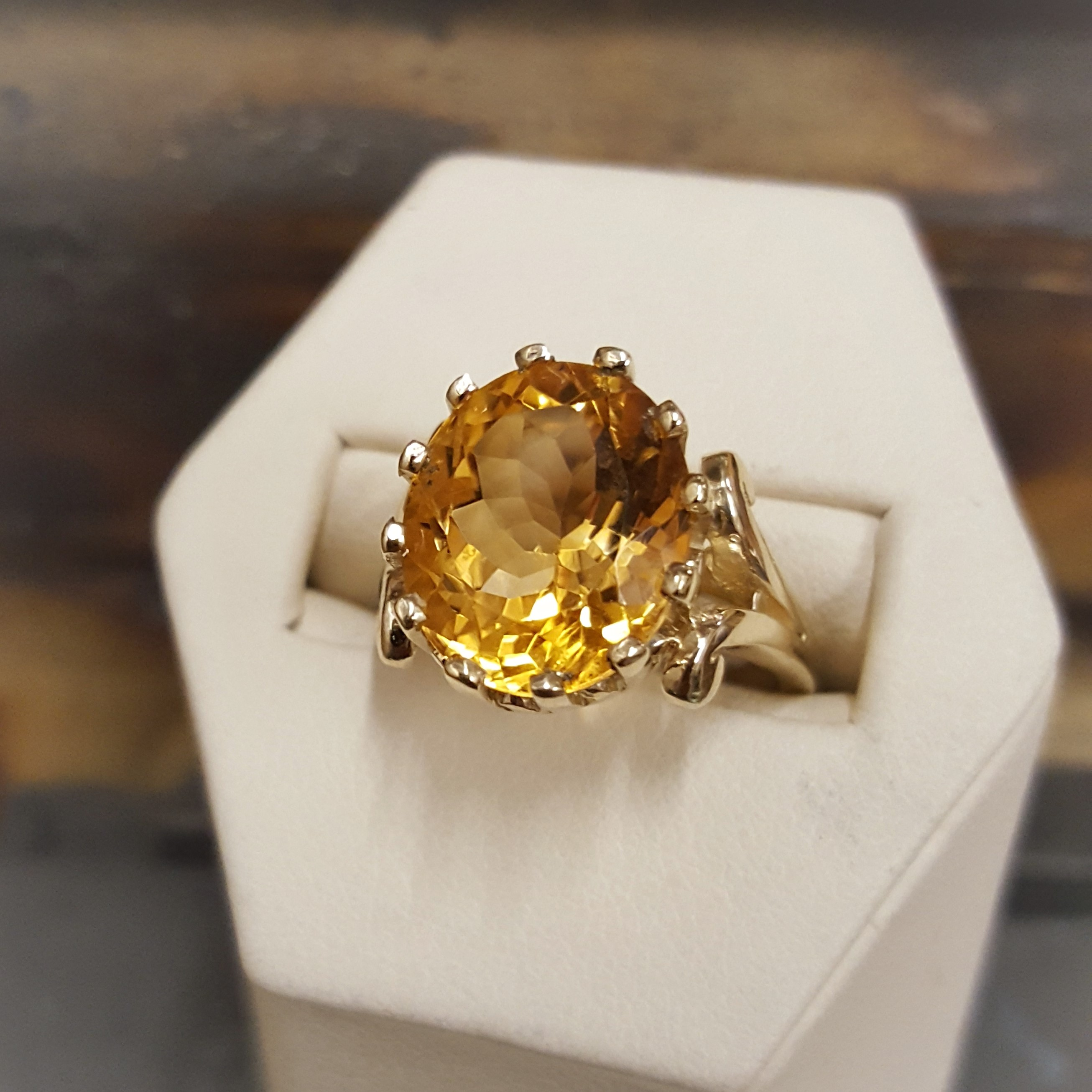 Large Oval Faceted Citrine