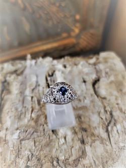 4mm Sapphire Ring 14kt White Gold