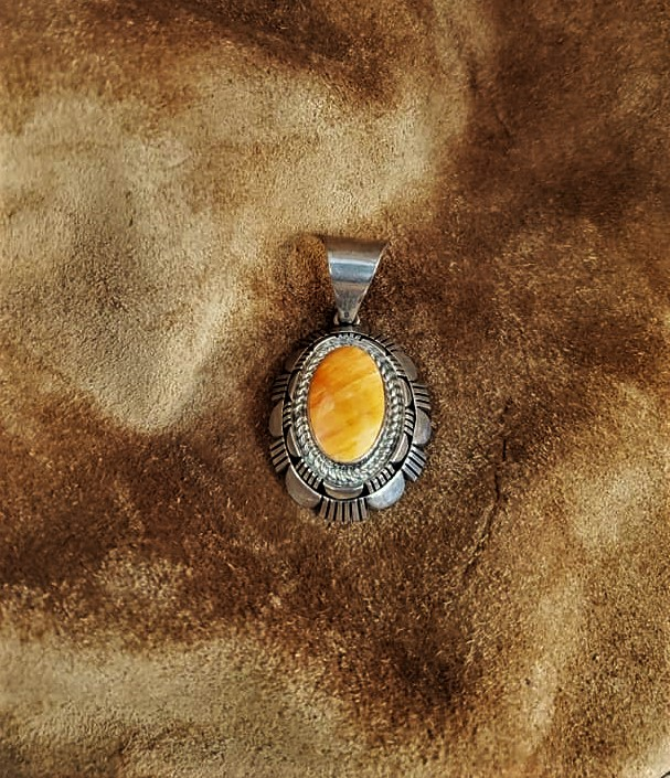 Navajo Robert Concho Spiny Oyster Pendant