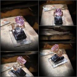 9.94ct Pink Kunzite Rose Gold