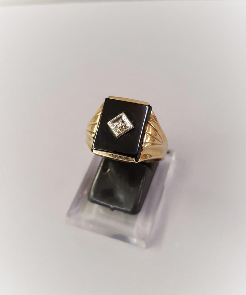 Vintage Onyx & Diamond