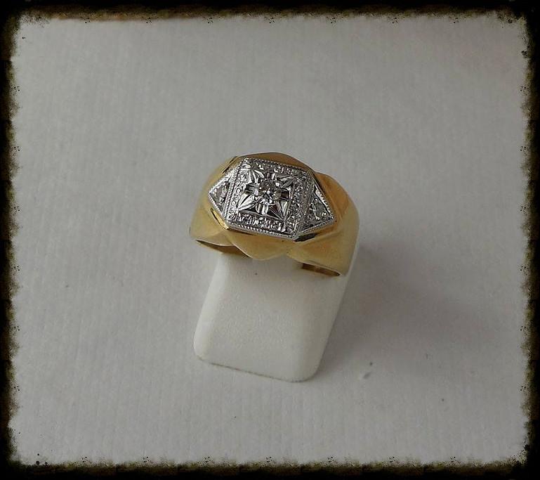 Diamond White & Yellow Gold