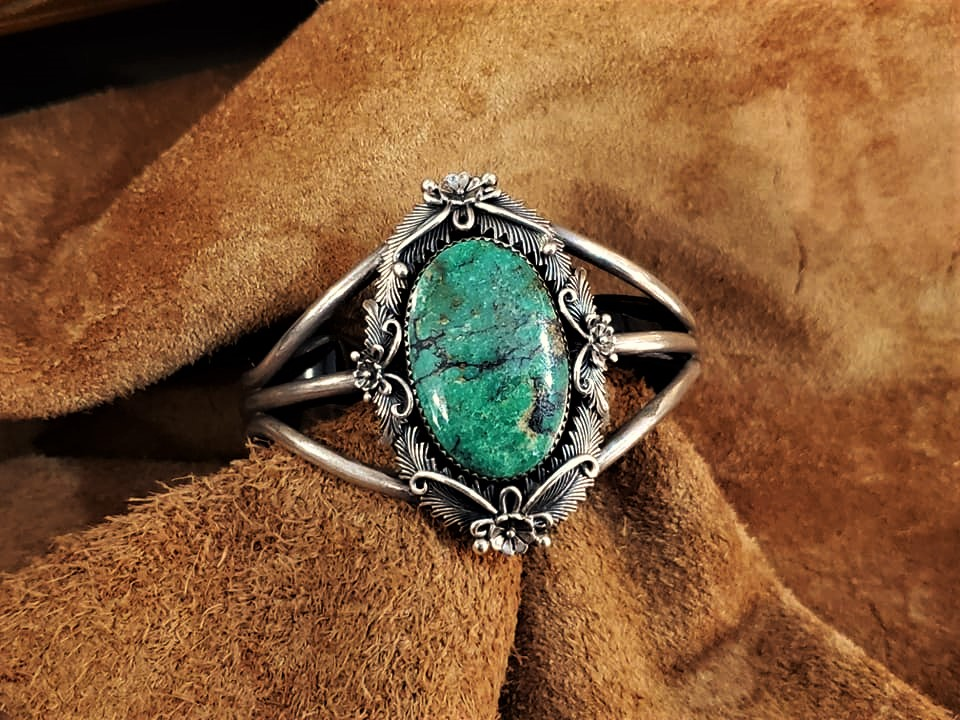 Navajo Peterson Johnson Turquoise Cuff Bracelet