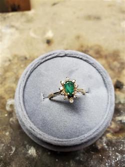.40ct Emerald 020ctw Diamond Halo