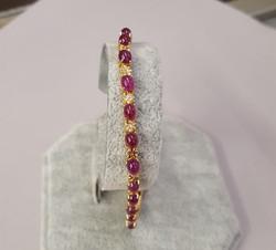 Vintage Ruby Cabochon Bracelet