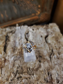 .75ct Princess Cut Wedding Ring
