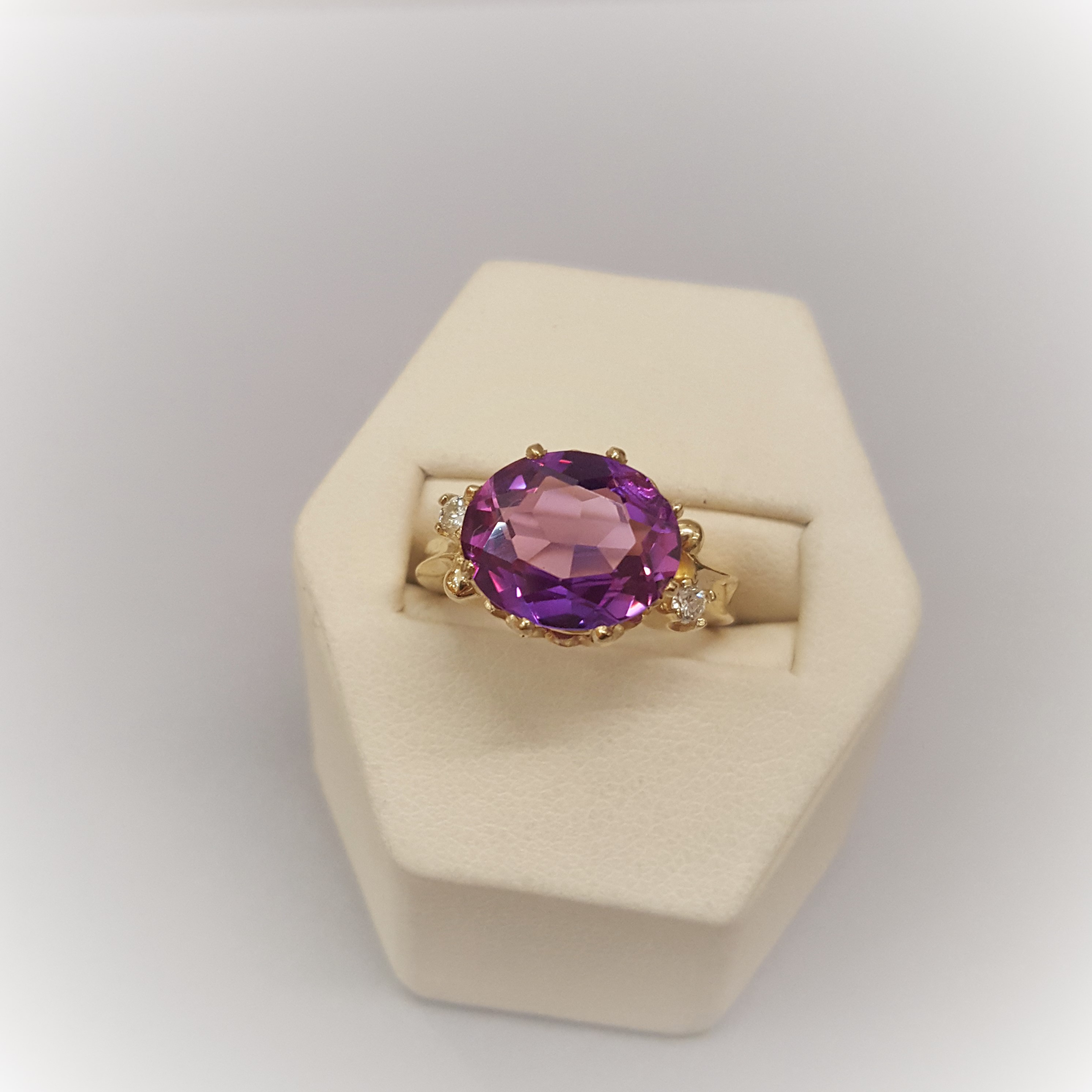 6.50ctw Purple Sapphire & Diamonds