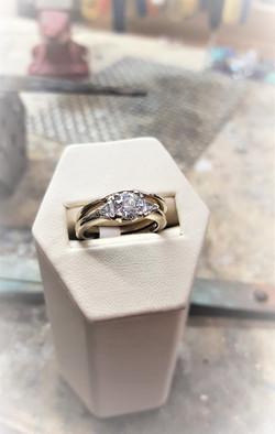 .95ctw Diamond Wedding Set