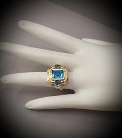Swiss Blue Topaz & Diamonds